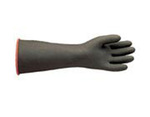 Chemical-Resistant Gloves, Natural, Rubber, 40 mil, Embossed, 11 in, Rolled