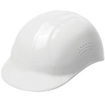 Bump Cap, 4-Point, Pin Lock, White, 6-1/2 to 7-3/4 in