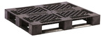 RACX® DP4840 Rackable Pallet w/o Lip, 48 L x 40 W in, Black