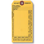 Machine Tag, English, FIRE EXTINGUISHER, Black on Yellow