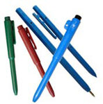 Stick Pen, Black, Blue, Metal Detectable, 50 per Box