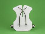 Knife Sharpener, Polyethylene|Stainless Steel (Rod), White, Maintenance Free