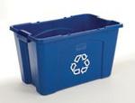 Recycling Box, 18 gal, Blue