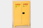 Tower Safety Cabinet, Steel, Yellow, 45 gal