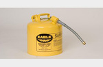 Type 2 Safety Can, Galvanized Steel, Yellow, 5 gal