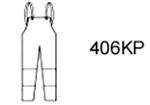 Guardian Protective Wear 406KP Bib Overall, Polyurethane/Nylon, Yellow, XL