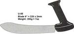 Striex®, U-Handle Knife, Extra Carbon Stainless Steel, Polypropylene, Black, Machine Washable, 9 in