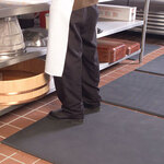 Ortho Mat®, Wet Mat, Gray, 33 in, 20 in, 3/4 in, Pebbled, Anti-Fatigue, Anti-Microbial