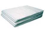 OIL-DRI MeltBlown L90856 Mat Pad, Polypropylene, 15.5 gal, White, 19 in, 15 in, Oil Only, 100 Pads per Box