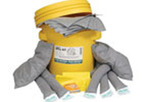 Universal Spill Kit, (4) Universal Socks (4 L), 20 Gal, (1) Universal Sock (10 L), (2) Universal Pillows, (10) Universal, (1) Bonded Pads, (3) Disposal Bags with Ties, (1) Emergency Response Guide Book, (1) Overpack (20 gal.)