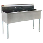 Stainless Steel Utility Sink 3 Compartment Eagle 1854-3-16/4
