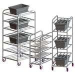 Universal Platter Cart, Aluminum, 32 in, 16 in, 43 in