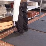 Dry Mat, Black, 50 ft, 24 in, Pebbled, Anti-Fatigue, Anti-Microbial