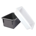 Tote Pan, Polyethylene, White