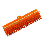 Resin-Set DRS®, Deck Scrub Brush, Polyester, 11.8 in, Stapled, orange