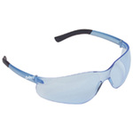 Safety Glasses, Polycarbonate, Blue, Anti-Fog Scratch-Resistant, Framed, Blue