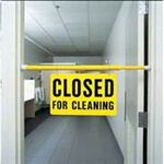 Floor Sign, 30 in, Closed for Cleaning, English