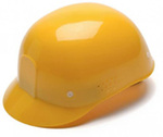 Bump Cap, 4-Point, Snap Lock, Yellow