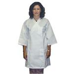 Frock, 65% Polyester / 35% Cotton, White, Medium