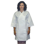 Frock, 65% Polyester / 35% Cotton, White, Large