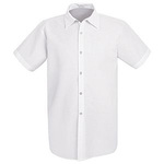 CHEF DESIGNS, Cook Shirt, 65% Polyester / 35% Cotton Poplin, White, Large
