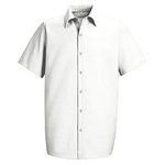 RED KAP®, Specialized Work Shirt, 65% Polyester / 35% Cotton, White, 3X-Large