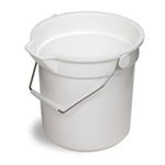 Continental® Huskee® 8110 White Polyethylene Bucket, 14-Quart