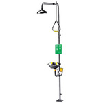 SAFE?T?ZONE®, Combination Drench Shower and Eyewash Station, Floor Mount, Yellow