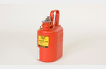 Storage Lab Can, High Density Polyethylene with Stainless Steel Flame Arrestor, Red, 1 gal