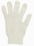 String Knit Gloves, 60% Cotton / 40% Poly, White, Uncoated, Large
