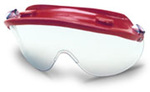 Safety Goggle, Clear, Framed, Red