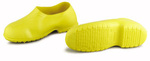 Plain Toe Overshoe, PVC, Plain, Pull-On, Yellow