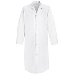 Butcher Coat, 65% Polyester / 35% Cotton, White, Gripper Front, 3X-Large