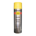 Enamel Spray Paint, Aerosol Can, Safety Yellow, 15 oz