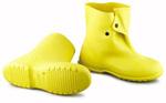 Plain Toe Overshoe, PVC, Plain, Pull-On (Button Hook), Yellow