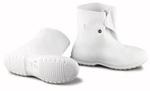 Plain Toe Overshoe, PVC, Plain, Pull-On (Button Hook), White