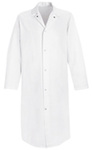 Frock, 65% Polyester / 35% Cotton, White, Snap, Large