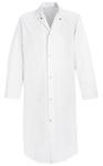 Frock, 65% Polyester / 35% Cotton, White, Snap, Medium