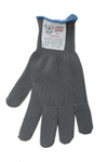 cut resistant glove, heavy-weight blend of spectra and two stainless steel strands, 5