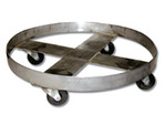 Mid-States SS70-SH55 Stainless Steel Dolly with Ring, 55 Gal