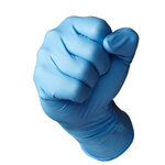 Eagle Protect Double Tough Blue Nitrile Gloves, 8 mil