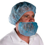 Beard Cover, Polypropylene, Blue, Universal, 18 in
