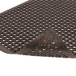 NoTrax® Anti-Fatigue Black Rubber Drain Mat 562 Sanitop® 2 x 3