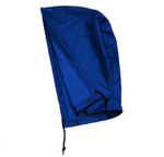 Rain Hood, PVC on Nylon, Navy Blue, Universal