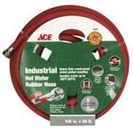 Hot Water Hose, 5/8 in, 50 ft, Red, 250 PSI, +200 °F, Brass (Coupling), Coupler, 1000 PSI Burst Pressure