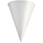White Triangular Paper Cone Cups 4.25 Oz Solo® 42R-2050 Rolled Rim
