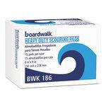 Heavy-Duty Scouring Pads Green 6 x 9 Boardwalk® BWK186