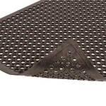 NoTrax® Sanitop® Black Rubber Wet Mat, 3 X 20 feet