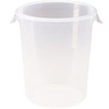 Rubbermaid FG572424CLR Semi-Clear Round Storage Container, 8-Quart