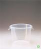 Rubbermaid FG572324CLR Semi-Clear Round Storage Container, 6-Quart